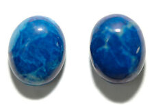 LAPIS LAZULI 8X10mm STUD EARRINGS (S176)