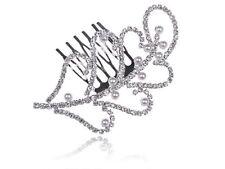 Bridal Jewelry Crystal Rhinestone Leaf Faux Pearl Fashion Head Piece Hair Comb