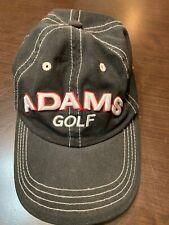 ADAMS GOLF Embroidered Adjustable Cap Hat Black
