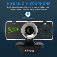 USB2.0 HD Webcam Camera Web Cam With Mic For Computer PC Laptop Desktop n6