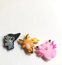 NEW Pokemon Crocs Shoe Charms Jibbitz Axew Riachu Clefable Set Of 3