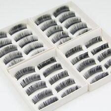 20 Pairs of Quality Natural False Eyelashes Fake Makeup Eye Lashes with Glue