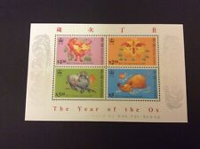 Hong Kong 1997 Year of the Ox Minisheet