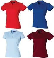 HENBURY COOLPLUS BREATHABLE LADIES POLOSHIRT WICKING POLO SHIRT RRP £18