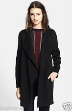 VINCE. Long Sleeve Wool Blend Coat, Medium, black, V231490636