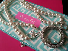 ORIGAMI OWL Pearl set: Pearl Face, Necklace and 5 Charms