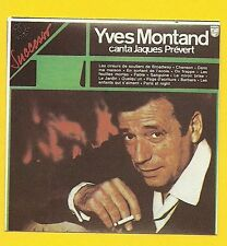 Yves Montand canta Jacques Prevert #145 Rare LP Album Cover STICKER Card ITALY