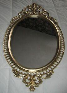 "Vtg Burwood #4421 Hollywood Regency Gold Arabesque Wall Mirror, Rare! 31 1/2"" H."