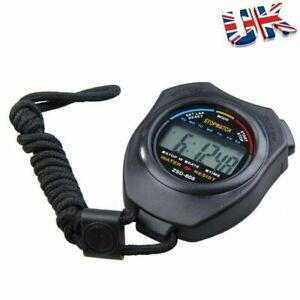 Digital Handheld Sports Stopwatch Stop Watch Timer Alarm Counter UK Seller