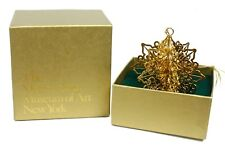 Metropolitan Museum of Art 2009 Snowflake 3D Gold Plated Christmas Ornament