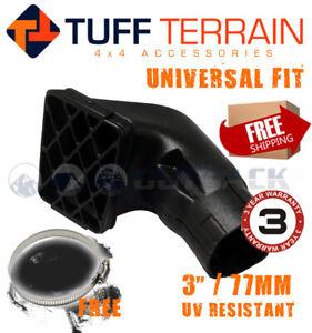 Tuff Terrain 3 inch 77mm Snorkel Air Ram Head Airflow Replacement FREE Clamp