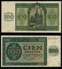"""ESPAÑA. 100 pesetas año 1936 """"Catedral de Burgos"""". Serie V. Nº 557361. BONITO."""