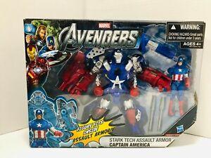 Marvel Avengers Stark Tech Assault Armor Captain America Action Figure Hasbro