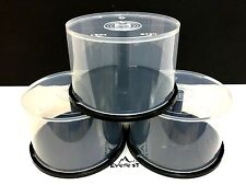 Lot of 3 - 50 Pack New Empty Spindle Cake Box Holds 50 CDs, DVDs or Blu-ray
