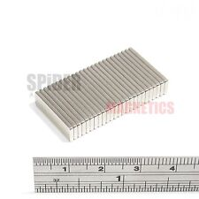 25 Magnets 20mm x 6mm x 1.5mm Neodymium Block strong neo magnet 20x6x1.5 mm