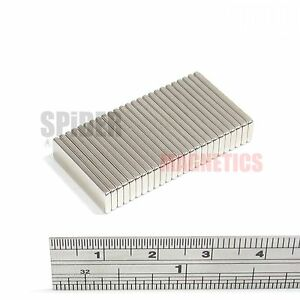 25 Magnets 20mm x 6mm x 1.5mm Neodymium Block strong neo magnet 20x6x1.5 mm