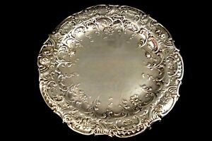 SILVER HIGHLY DECORATED GEORGIAN CIRCULAR PIN TRAY--DIAM 4.5 ins-LON 1807--U.F