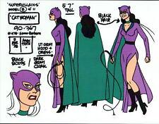 CHALLENGE Of The SUPER FRIENDS : CATWOMAN MODEL SHEET Batman DC ALEX TOTH