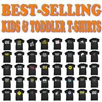 Kids Tshirt Funny Childrens Toddlers Tee Top T-Shirt SUPER VARIOUS DESIGNS BK27