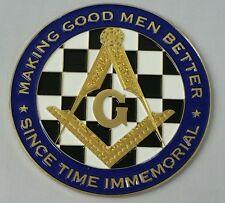 New Freemason Masonic Making Good Men Better Car Emblem