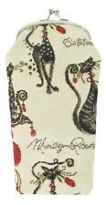 Catitude Cat Design Tapestry Reading Glasses Pouch  Signare