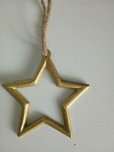 Nordic style gold  metal christmas hanging star