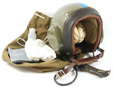 VINTAGE PILOTS AIRCREW FLYING CZECH HELMET AIRCRAFT AIRPLANE ARMY COLD WAR