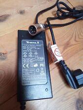 TranzX 24 Volt Ladegerät Li-Ion Akku 29,40 V 2A Lithium Battery Charger 4Polig