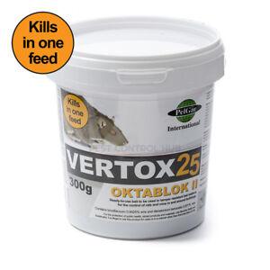 Vertox Rat and Mouse Killer Poison Bait Blocks Single Feed Strength