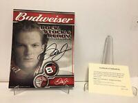 Hand Signed Dale Earnhardt Jr 2003 Budweiser Rock Stock Ready Index Card W COA