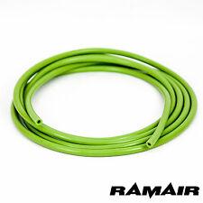 Ramair Verde 4mm Id X 3m Silicona Manguera de vacío tubo-Alambre que abarcan en la Manga-Boya