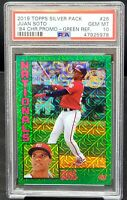 2019 Topps Chrome GREEN REFRACTOR Nats JUAN SOTO Card /99 PSA 10 GEM MINT Pop 2