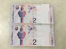 (JC) 2 pcs RM2 8th Series Ahmad Don First Prefix AA 0726805 to 806 - UNC
