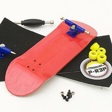 P-Rep WIDE 32mm Basic Complete Wooden Fingerboard -Red with Bearings and Nuts