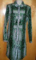 NWT NEW womens ladies size S green black white striped DEREK LAM shirtdress $70