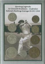 Sir Donald don Bradman vintage Australie Australien Cricket pièce ensemble cadeau 1948
