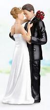 Tender Love Romantic Embrace Couple Resin Wedding Cake Topper