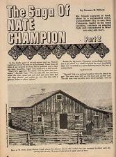 The Saga of Nate Champion Part2+Angus,Arapahoe Brown,Barber,Brisbin,Brooke