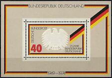Germania OVEST 1974 SG#MS1703 REPUBBLICA FEDERALE 25th ANNIV Gomma integra, non linguellato M/S foglio #D322