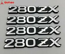 OEM DATSUN Silver 280ZX Front Fender Emblem Badge Decals for Nissan Fairlady-Z