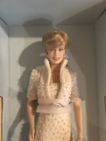 The Franklin Mint Diana Princess of Wales Porcelain Portrait Doll with Tiara
