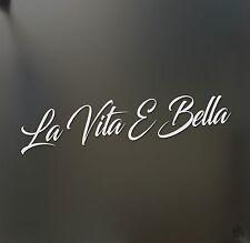 La vita e bella Life is beautiful sticker racing JDM drift car WRX window decal