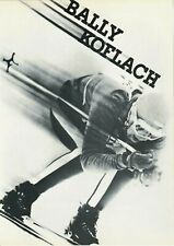 Original vintage poster BALLY KOFLACH LEATHER RACER SKI BOOTS 1964