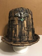 Steam Punk Costume Stovepipe Top Hat, Gold Faux Metal, COSPLAY, 1 of a kind