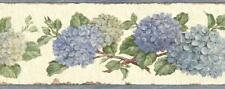 Wallpaper Border Blue Floral Hydrangea Trail