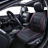 Universal Car Cushion Red Trim Car Seat Cover Leather Waterproof for SUV Sedan