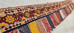 "151""x 18"" Ethnic Embroidery Rabari Tapestry Decor Door Valance Indian Toran/Trim"