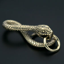 Brass Snake Clip Hook Keychain Key Ring Pendant Men's Gold Metal DIY Accessories
