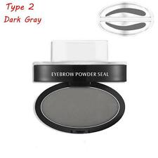 Eyebrow Shadow Dark Gray Definition Makeup Brow Stamp Powder Palette Natural