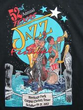 52nd Annual TEXAS JAZZ FESTIVAL  2012 Concert Souvenir T Shirt Size XXL (NWOT)